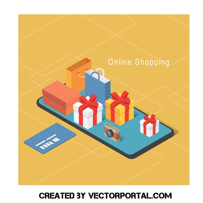 Internet commerce vector art