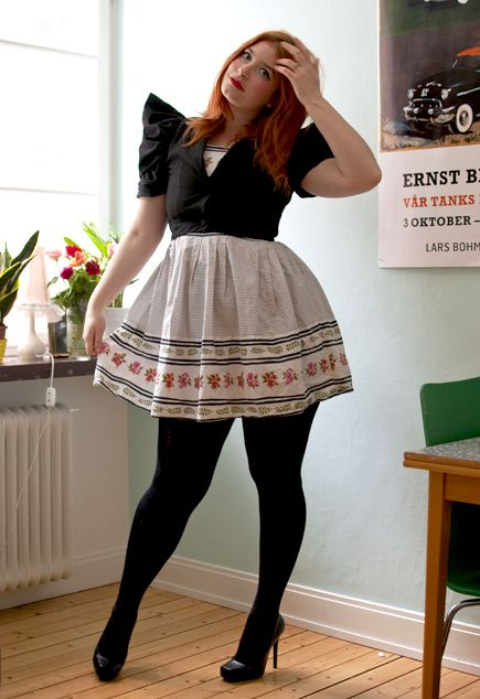 This outfit would make my day. It's like fierce secretary meets Oktoberfest.
