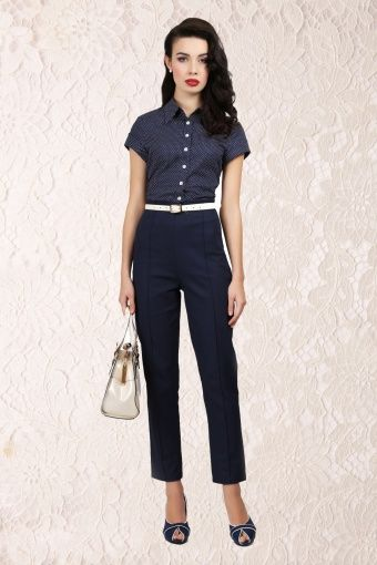 Model 50s Womens Fashion Pants Images Amp Pictures  Becuo