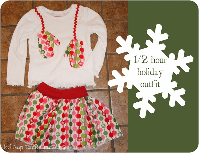 Sugar Bee Crafts: sewing, recipes, crafts, photo tips, and more!: Holiday Outfit - Nap Time Crafters