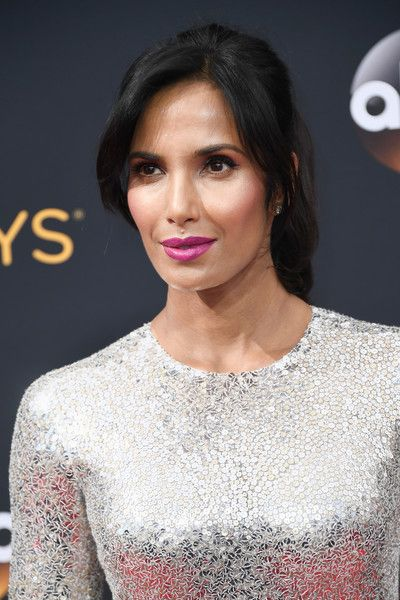 Padma Lakshmi Ponytail - Padma Lakshmi looked youthful and oh-so-pretty wearing this ponytail with parted bangs at the Emmy Awards.