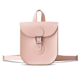 Pink Leather Festival Backpack from Brit-Stitch