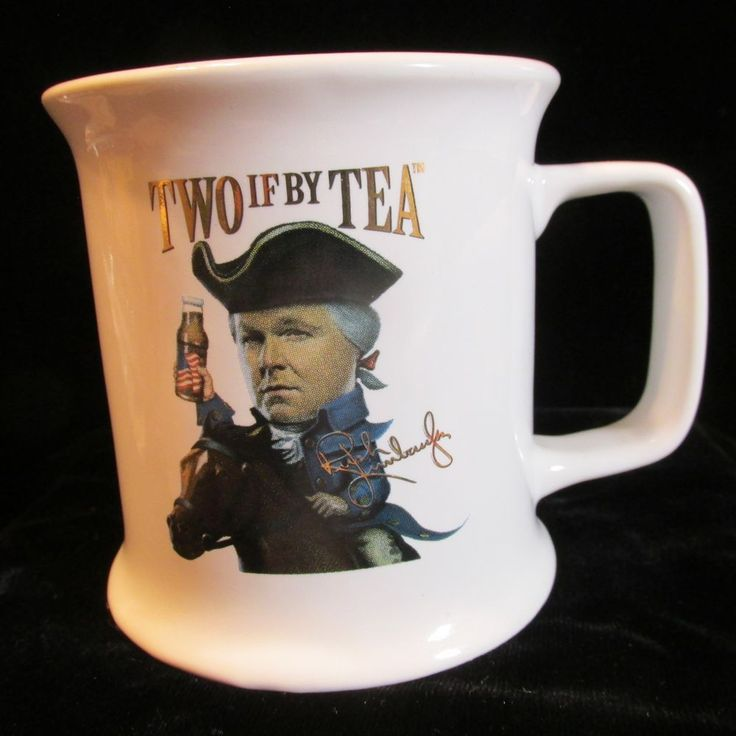 Rush Limbaugh Mug Cup TWO IF BY TEA - O Say Can You Tea - 12oz USA Made Unused #TwoIfByTea