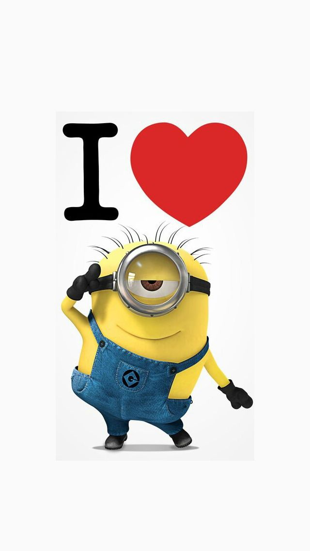 I Heart Minion iphone5 wallpaper - mobile9 #DespicableMe