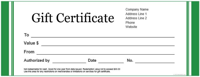 gift certificate template on pinterest gift certificate templates