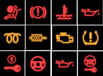 Do you know all of the warning lights? In case of any problems give us a call and we will help ...