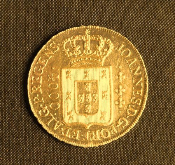 Moeda em ouro, 4.000 Réis, 1815 (Brasil Colônia).