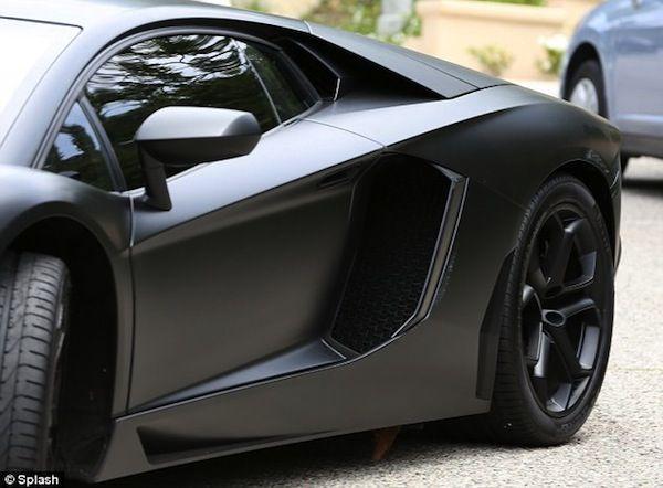 Check out the damage on Kayne West's Lamborghini.
