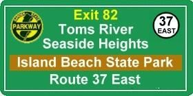 +seaside heights bridge new jersey | Directions to Island Beach State Park - StriperSurf.com