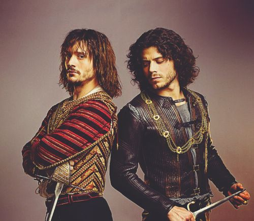 Juan and Cesare Borgia aka David Oakes and Francois Arnaud respectively.