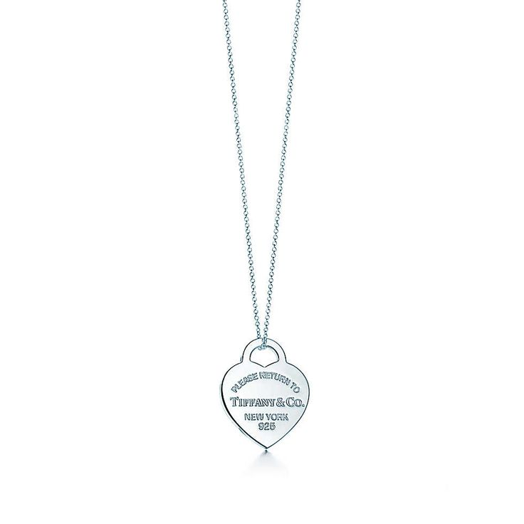 Return to Tiffany™ heart tag pendant in sterling silver, medium.