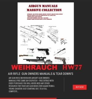 WEIHRAUCH HW 77 MK 1 - 3 EXPLODED DIAGRAM FOR THOSE WHO WANT TO STRIP DOWN THEIR WEIHRAUCH HW77 MK 1 - 3 AIR RIFLE GUN THIS IS WHAT YOU NEED  INSTANT DOWNLOAD NOW!
