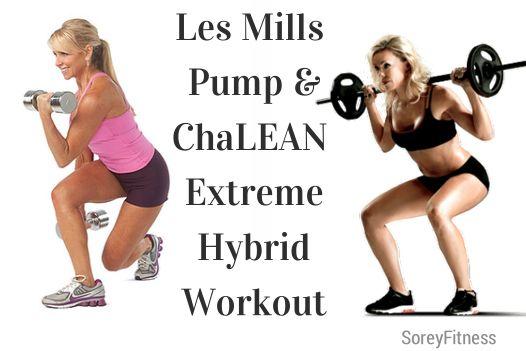 Les Mills PUMP ChaLEAN Extreme Hybrid Workout Calendar