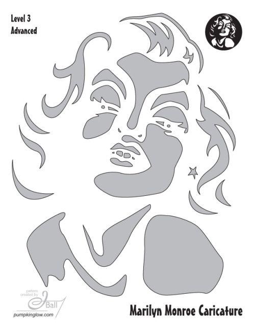 Marilyn Pumpkin Stencils – Happy Halloween!                                                                                                                                                                                 More