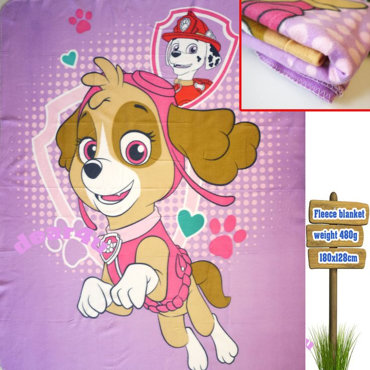 New Girls kids Fleece Blanket - Paw Patrol rescue skye throw winter polar