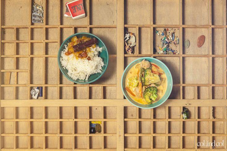 Pollo tailandés de curry rojo COLANDCOL