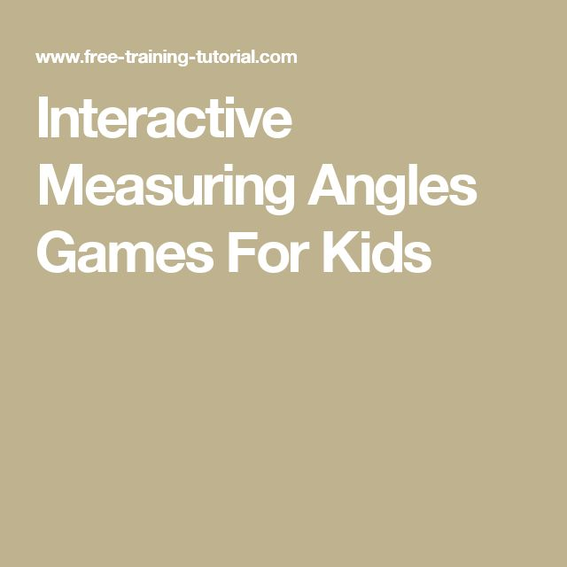 Interactive Measuring Angles Games For Kids