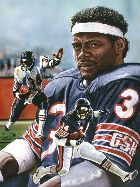 Walter Payton RB Chicago Bears                                                                                                                                                      More