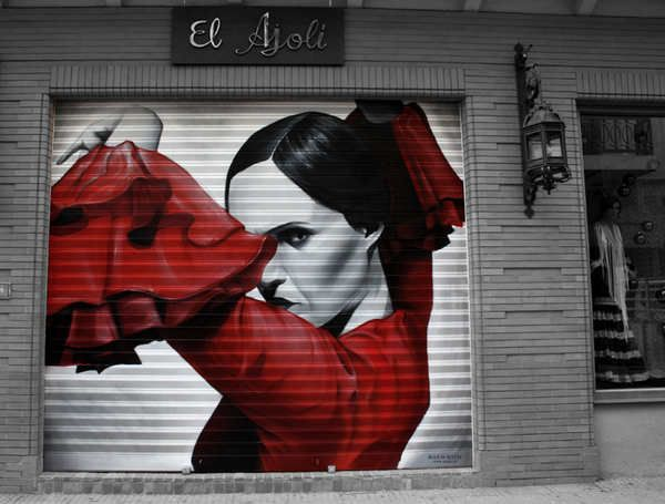 Graffiti de retratos hechos por Man o Matic