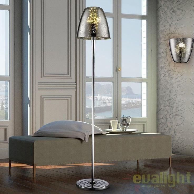 Lampadar LED / Lampa de podea design modern QUASAR CHROME SV-436786  - Corpuri de iluminat, lustre, aplice