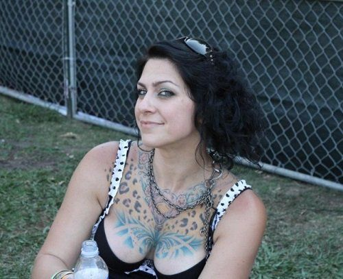 Danielle Colby chest tattoos