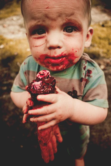Baby Zombie. This will be my future child's costume for sure!!!