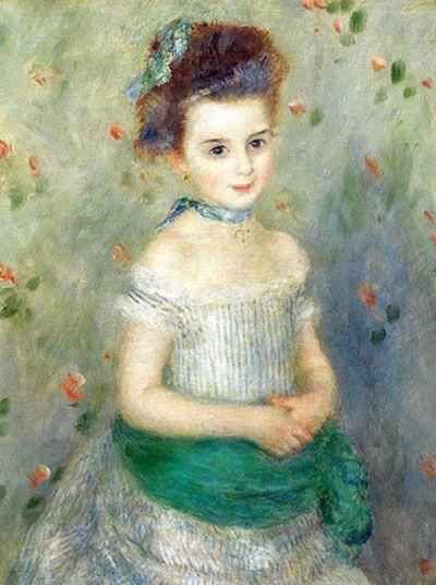 ♔ 'Portrait of Jeanne Durand Ruel' ~ Pierre Auguste Renoir ~ 1876-3-