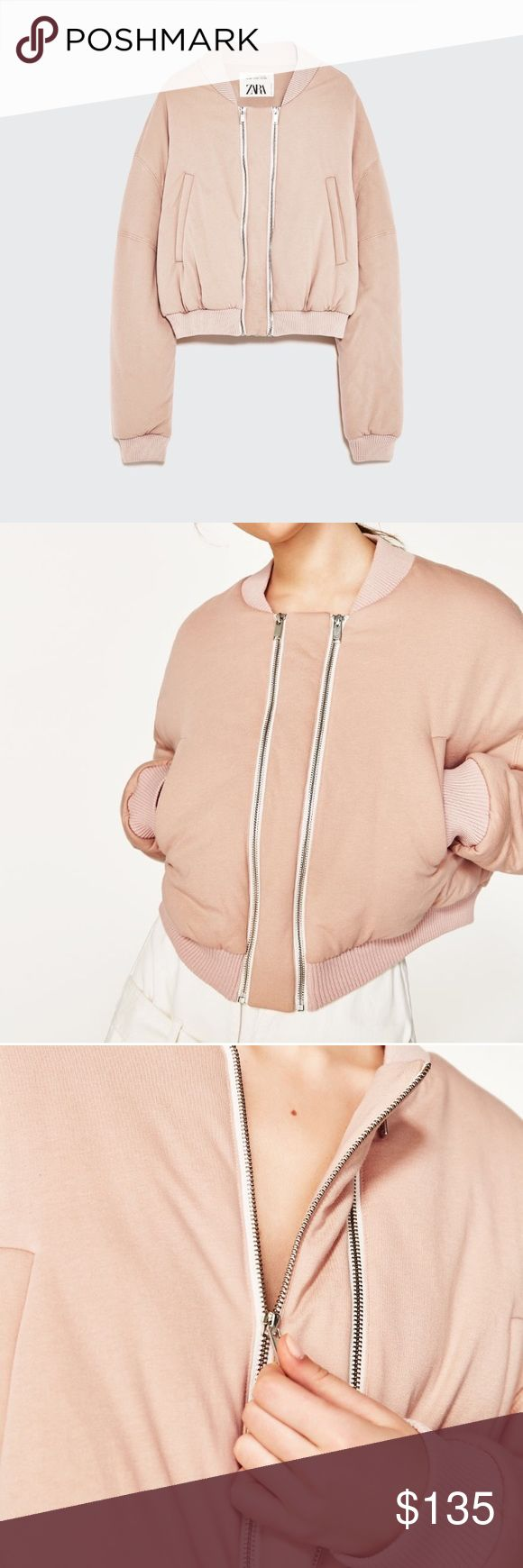 Zara Studio Double Zip Bomber Jacket -  New with tags - Quilted  bomber jacket with from double zips -  Round neck and long sleeves -  Ribbed neck -  Cuffs and hem -  Front pockets -  Front zip fastening Zara Jackets & Coats