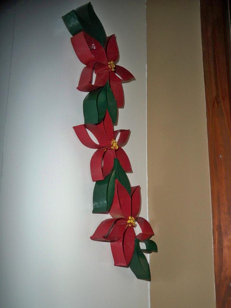Toilet Paper Roll Poinsettia Christmas Toilet Paper Toilet Paper Roll Crafts Diy Christmas