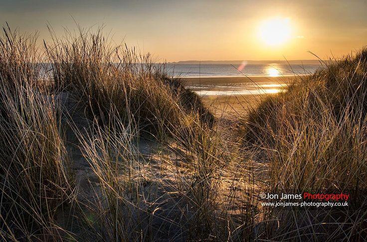 Aberavon Beach, Port Talbot at sunset.