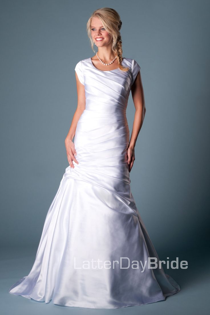 Modest wedding dress aria latterdaybride prom modest for Mormon temple wedding dresses