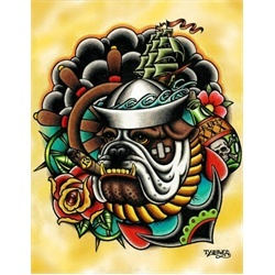 Bull Dog by Tyler Bredeweg Tattoo Art Canvas Print. Tyler ...