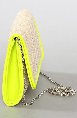 *Accessories Boutique The Neon Clutch in Ivory : Karmaloop.com - Global Concrete Culture