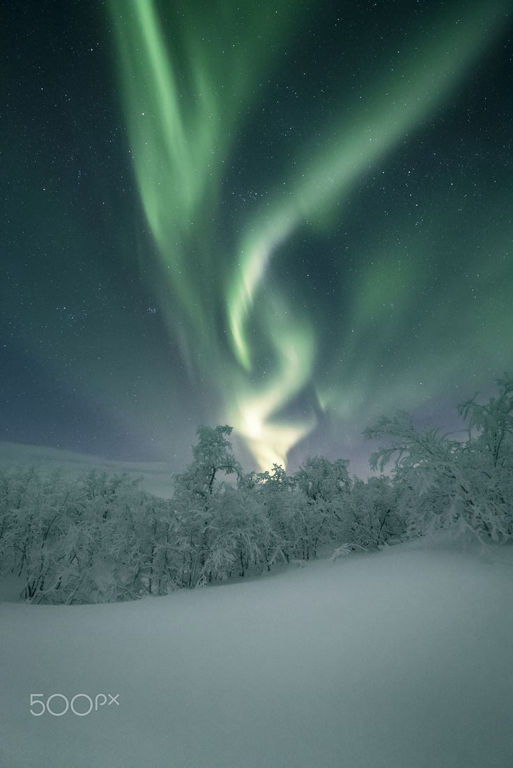 "Aurora Borealis by Andreas Gehrig - ""Taken at a nice trip with our car from Tromso to the Lofoten Islands."""