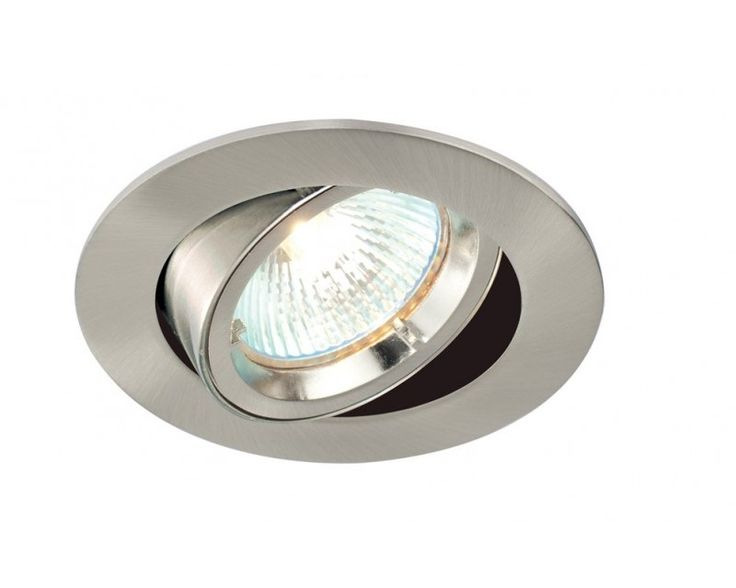 Saxby 52333 LED Satin Nickel Cast Tilt Downlight