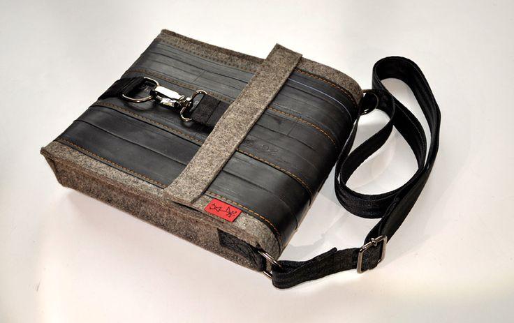 Upcycling - wenn aus alten Fahrradschläuchen coole Taschen entstehen - mehr erfährst du unter www.beesandnectaries.de