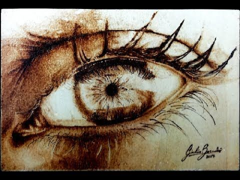 """HOW I DID IT """"Simply a woman's eye"""" Pyrography tutorial - YouTube"""