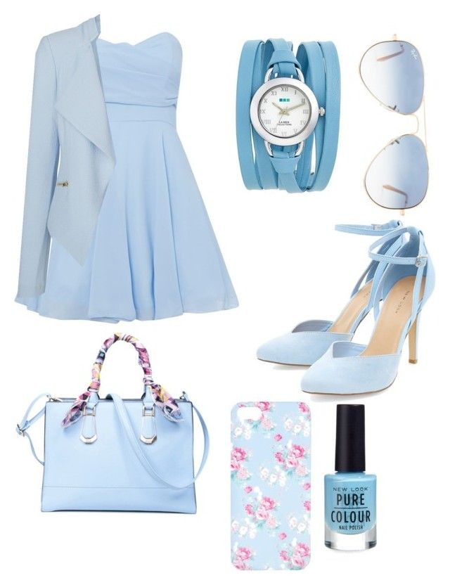 """pastel outfit"" by iinwahyuj on Polyvore featuring TFNC, Vero Moda, Ray-Ban, La Mer and ALDO"