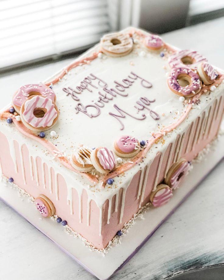"""🍩 """"Donut Grow Up"""" -Süßigkeiten für Myas 1. Geburtstagsfeier …   – Donut cake"""