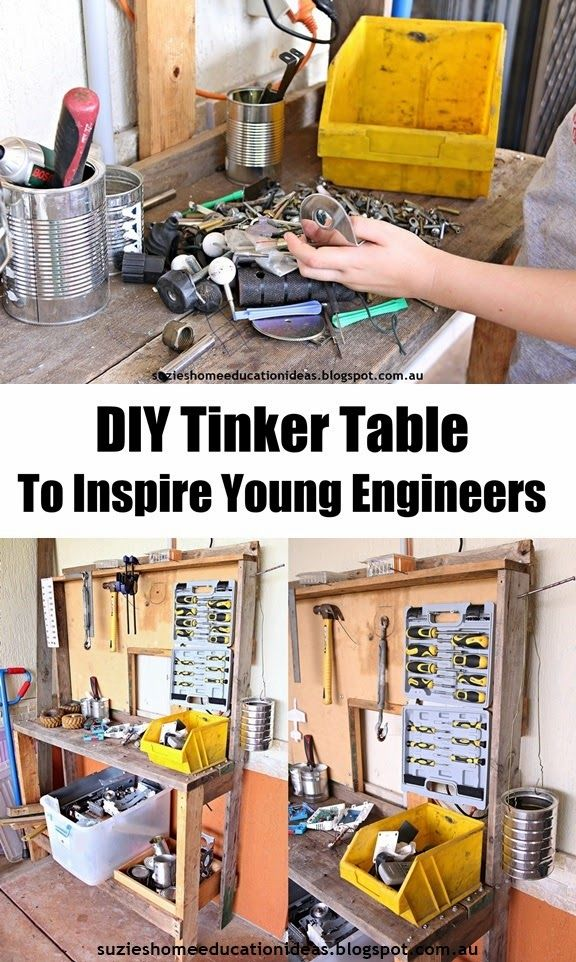 DIY Tinker Table to Inspire Young Engineers - Great way to learn more about physics and engineering!