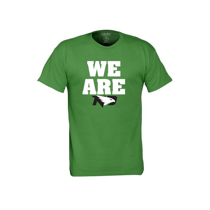Men's North Dakota Fighting Hawks We Are Tee, Size: Medium, Brt Green