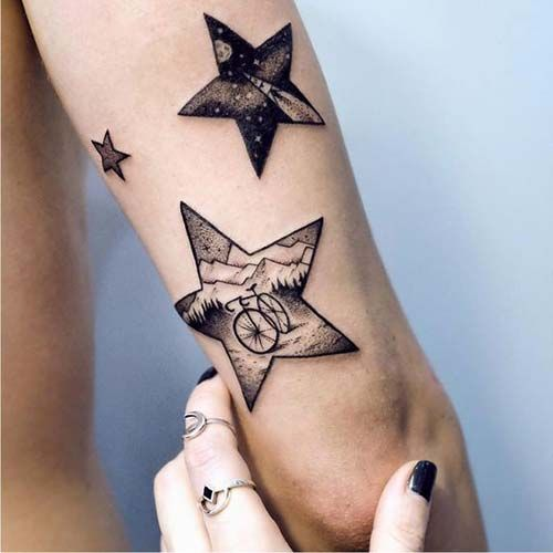forearm star tattoo art tumblr arka kol yıldız dövmesi