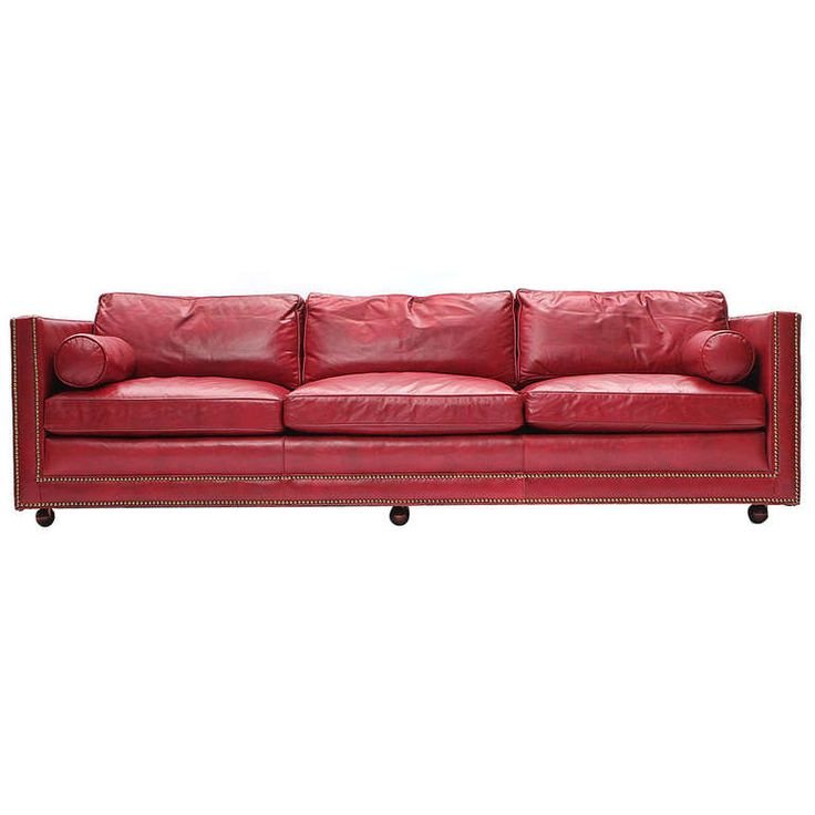 Red Leather Sofa | From A Unique Collection Of Antique And Modern Sofas At  Http: