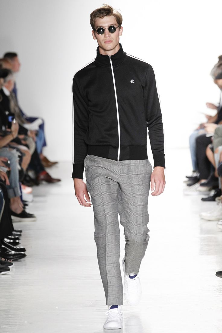 track jacket + tailored pants | Todd Snyder Spring 2017 Menswear Fashion Show