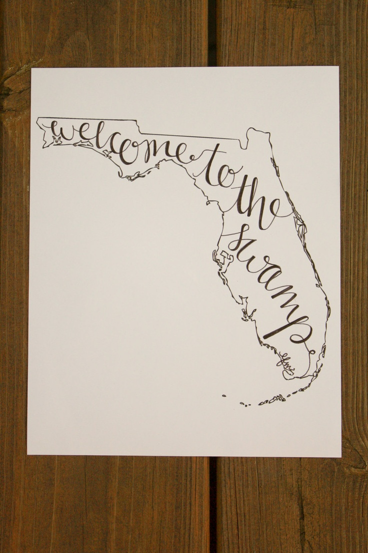 Florida: Welcome to the Swamp Print. $ 15.00, via Etsy.