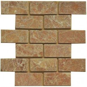 2x4 Rojo Alicante Marble Subway Tile Tumbled