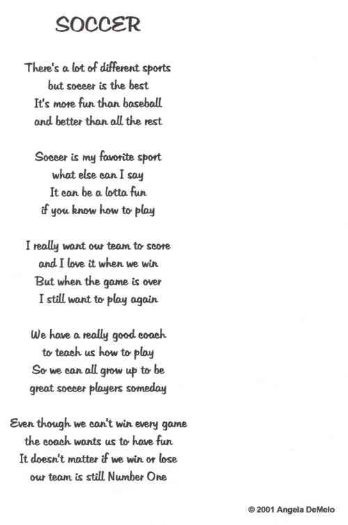 Poems About A Soccer Ball 117
