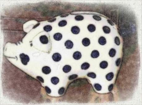 Polka Dot Piggy Bank