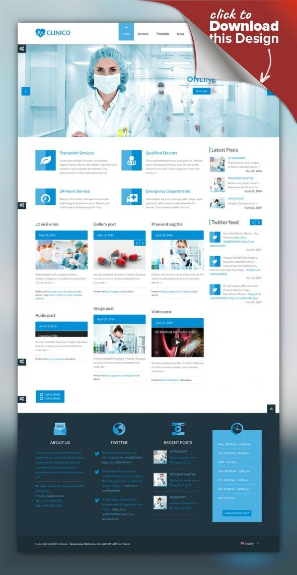 Clinico - Premium Medical and Health Theme beauty, clean, clinic