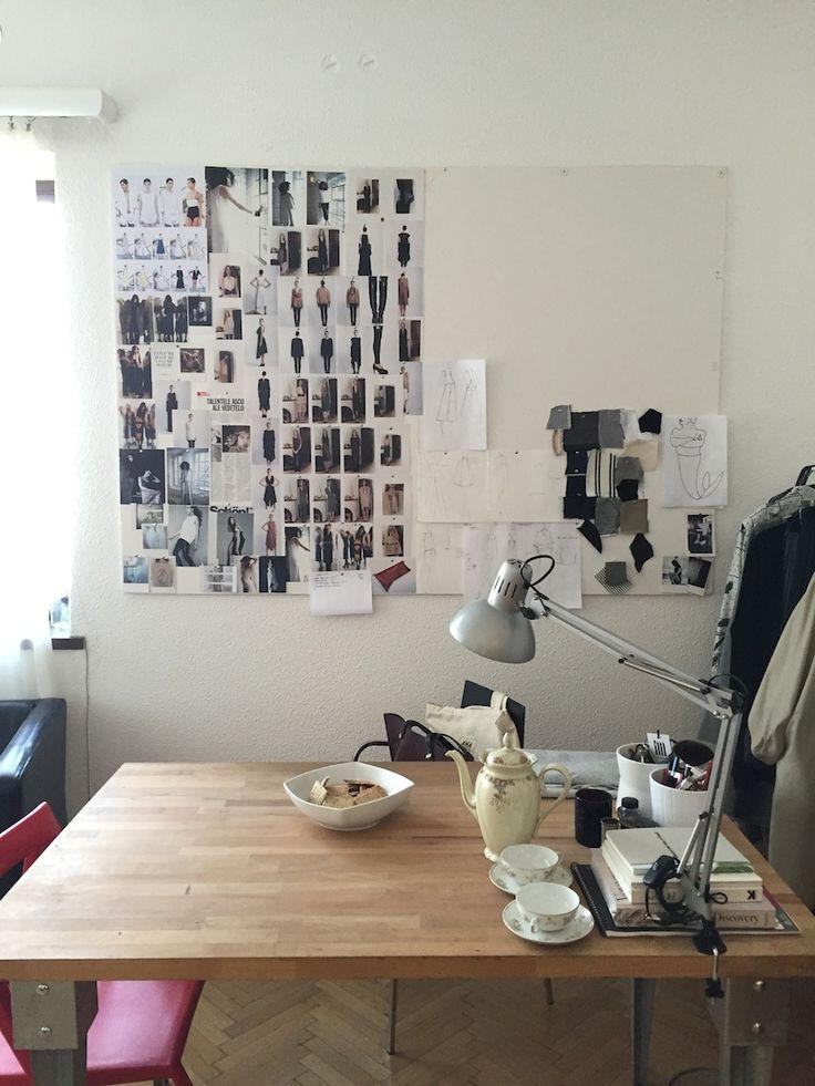 A creative table. Irina Marinescu, in the showroom. http://irinamarinescu.com